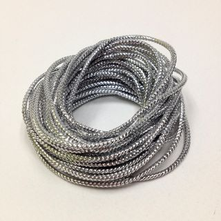 Metallic Cord 8ply Silver 5m