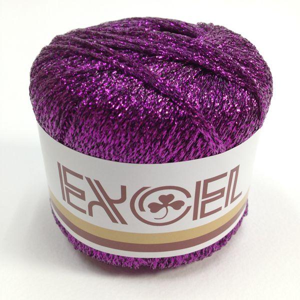 Metallic Yarn Purple 20g