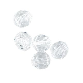 Bead Acrylic Round Facet 15Mm Crys 10Pc