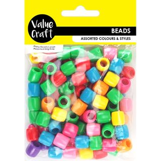 Pony Beads 10mmx11mm Assorted 60G