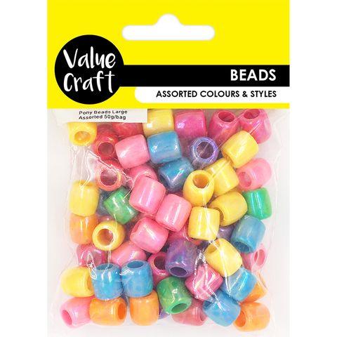 Pony Beads Assorted AB Finish 30G