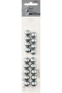Bead Glass Pearl 14Mm Drk Grey 18Pcs
