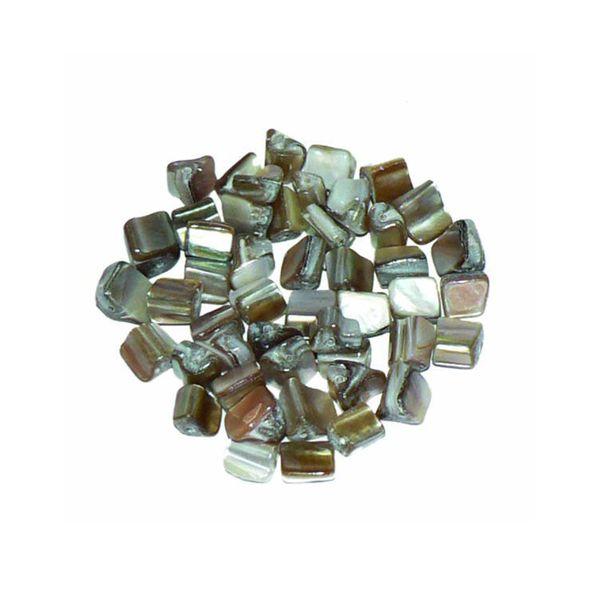 Bead Shell Cube Small Natural 48Pcs