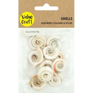 Shells Round with 1 Hole Pink Swirl 50G