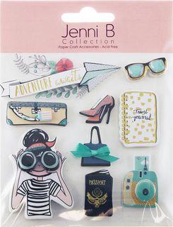 Jenni B Stickers Adventure Awaits 9Pcs