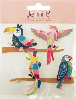 Jenni B Sticker Tropical Birds On Branch