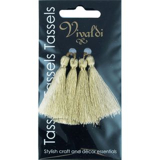 Craft Tassel Metallic 5cm Gold 4Pcs