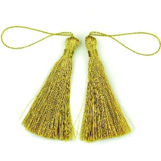 Craft Tassel 70mm Metallic Gold 4Pcs