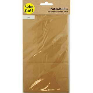 Bags with Gusset Paper Brown 10Pcs