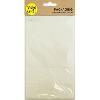 Bags with Gusset Paper White 8Pcs