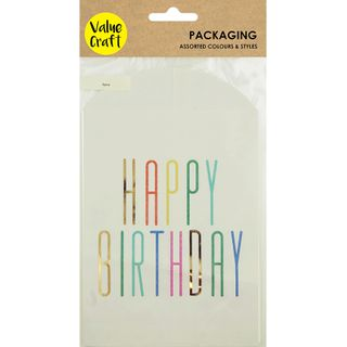 Bag Paper 19X12cm-Happy Birthday 6Pcs