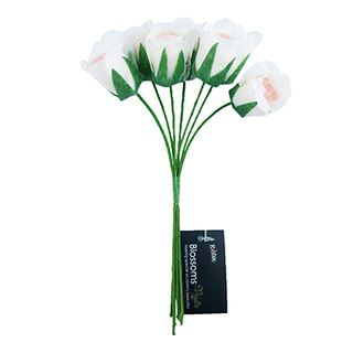 Flower Poly Rose Bunch Cream-Pink