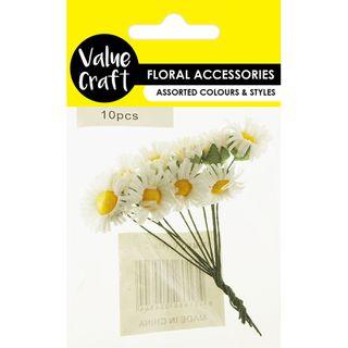 Craft  Daisy Flowers White 10Pcs