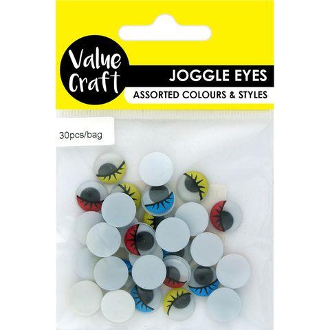 Craft Joggle Eyes-Lashes Multi 30Pcs