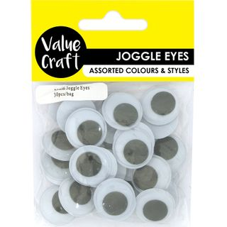 Craft Joggle Eye Round 20mm 30Pcs