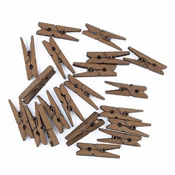 Craft Wooden Pegs 3cm Gold 20Pcs