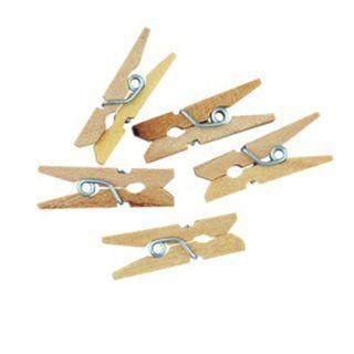 Craft Wooden Pegs 2.5cm Natural 40Pcs