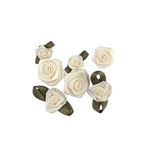 FLOWER ANTIQUE WHITE 16PCS
