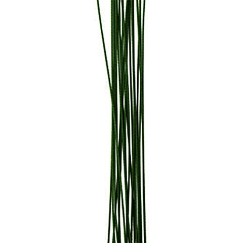 CRAFT WIRE FLORIST COATED GREEN  30PCS