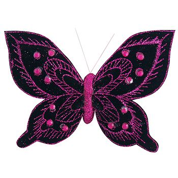 Butterfly Cloth Black/Hot Pink