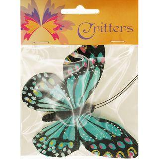 Butterfly 11.5x9cm Blue 1Pc