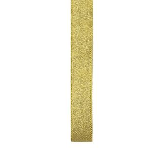 Ribbon 15mm Nylon Metallic Taffeta Gold