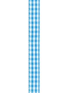 Ribbon 10mm Gingham Blue 3m