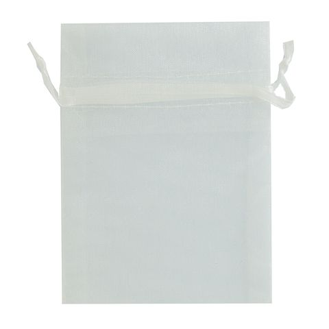 Organza Bag Mini 10 x 7.5cm - White 50Pc