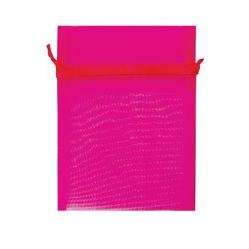 Organza Bag 17x12.5cm Hot Pink Pkt 10