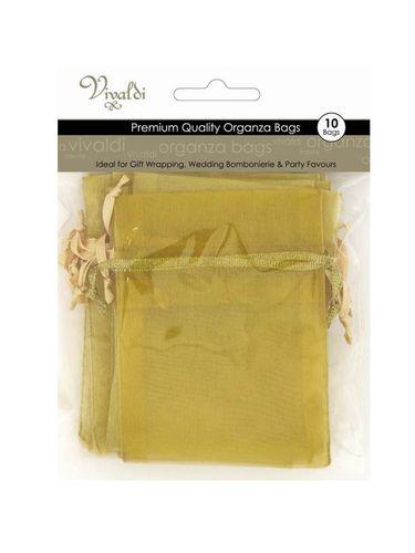 Organza Bag 17x12.5cm Mustard Pkt 10