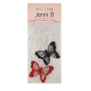Butterfly Theme PVC Glitter Bright 3Pcs