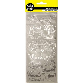 Craft Peel Sticker Thank You Slv 1Sheet
