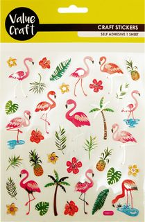 Craft Stickers Flamingo 1Sheet