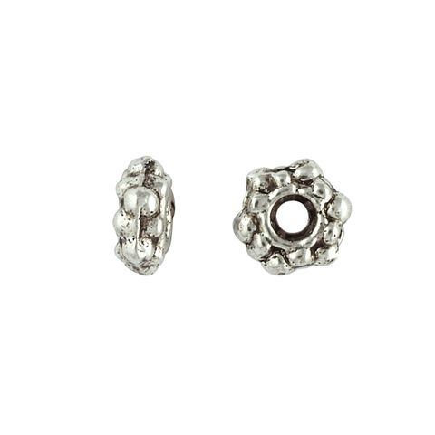 Spacer Daisy 7mm Silver 20Pcs