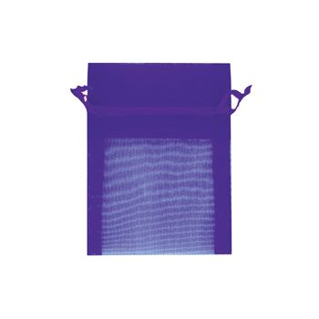 Organza Bag Mini 10X7.5cm Purple 1Pc