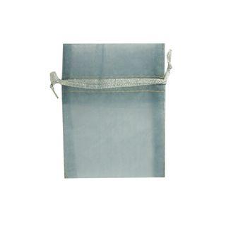 Organza Bag Mini 10X7.5cm Silver 1Pc