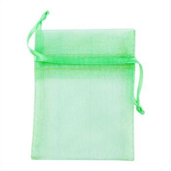Organza Bag Mini 10X7.5cm Lime 1Pc