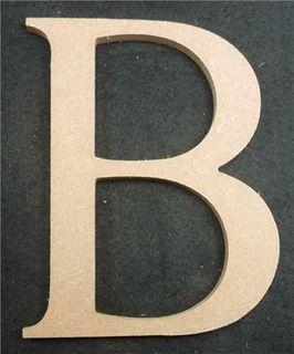 Wooden Alphabet Letter Medium B