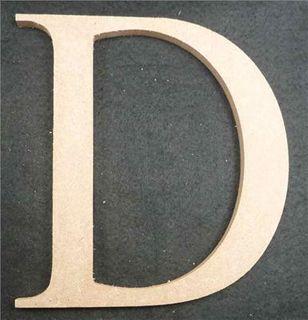 Wooden Alphabet Letter Medium D