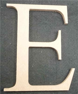 Wooden Alphabet Letter Medium E