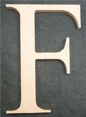 Wooden Alphabet Letter Medium F