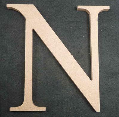 Wooden Alphabet Letter Medium N