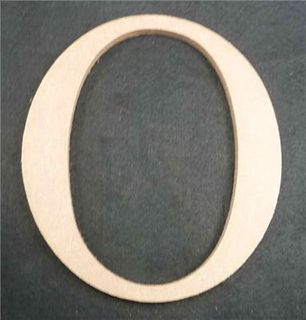 Wooden Alphabet Letter Medium O