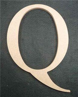 Wooden Alphabet Letter Medium Q