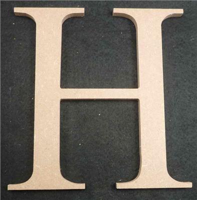 Wooden Alphabet Letter Medium H