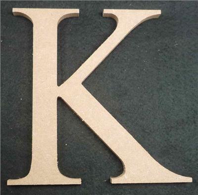 Wooden Alphabet Letter Medium K