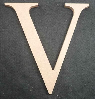 Wooden Alphabet Letter Medium V