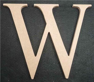 Wooden Alphabet Letter Medium W