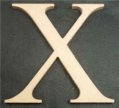 Wooden Alphabet Letter Medium X