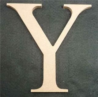Wooden Alphabet Letter Medium Y